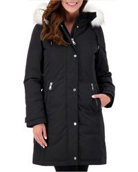 Vince Camuto - Petite Faux-fur-trim Hooded Parka, Created For Macy's - Lyst