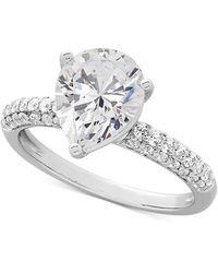 Arabella - Swarovski Zirconia Pear-shape Ring In Sterling Silver - Lyst