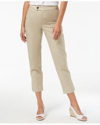 Charter Club - Petite Slim-leg Ankle Trousers, Created For Macy's - Lyst