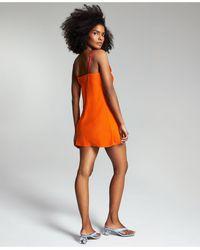 Bar Iii Zerina Akers Solid Slip Dress, Created For Macy's - Orange
