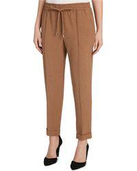 Tahari Pull-on Cropped Pants - Brown