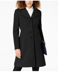 Tommy Hilfiger Single-breasted Walker Coat, Created For Macy's - Black