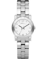 Marc By Marc Jacobs Watch, Women's Mini Amy Stainless Steel Bracelet 26mm Mbm3055 - Metallic