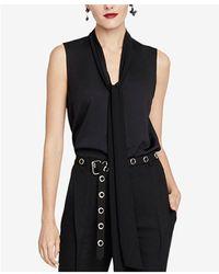 RACHEL Rachel Roy - Jasper Tie-neck Top, Created For Macy's - Lyst