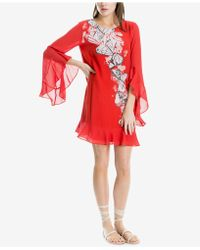 Max Studio - Angel-sleeve Placed-print Shift Dress, Created For Macy's - Lyst