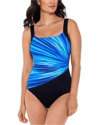 Reebok Radiant Energy One-piece Swimsuit - Blue
