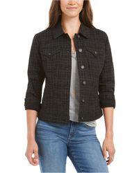 Style & Co. Plaid Demin Jacket, Created For Macy's - Black