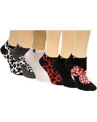Disney Women's 6-pk. Minnie Mouse Cheetah No-show Socks - Black