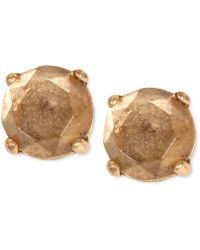 Lucky Brand - Gold-tone Bronze Crystal Stud Earrings - Lyst