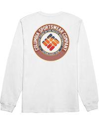 Columbia Fest Long Sleeve T-shirt - White