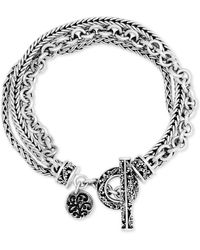 Lois Hill Multi-chain Toggle Bracelet In Sterling Silver - White