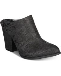 Kenneth Cole Reaction Tap Dance Mules - Black