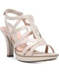 bcddb37b3e4 Lyst - Naturalizer Pressely Platform Dress Sandal in White - Save 11%