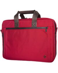 Token Lawrence Large Laptop Bag With Back Zipper - Red