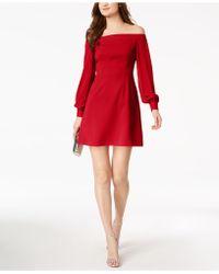 JILL Jill Stuart - Off-the-shoulder A-line Dress, Created For Macy's - Lyst