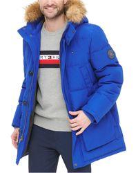 Tommy Hilfiger Long Snorkel Coat - Blue