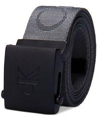 Calvin Klein 35mm Ckj Logo Web Belt - Gray