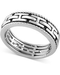 Effy Collection - Men's Chain-look Textured Band - Lyst