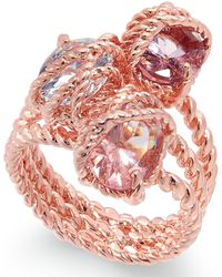 Charter Club - Rose Gold-tone Stone Trio Rope Ring - Lyst