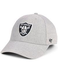 d8615738c97a3 47 Brand - Oakland Raiders Heathered Black White Mvp Adjustable Cap - Lyst