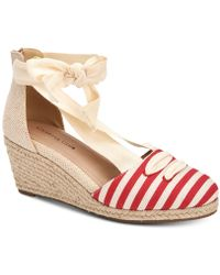 Charter Club Maritzaa Wedge Sandals, Created For Macy's - Multicolor