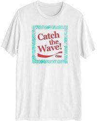Hybrid Coca Cola Graphic Short Sleeves T-shirt - White