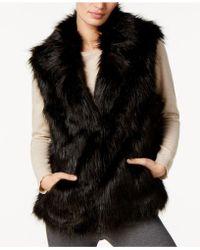INC International Concepts - Collared Faux-fur Vest - Lyst