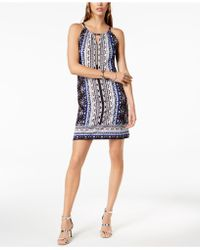 INC International Concepts - I.n.c. Petite Printed Embellished Keyhole Halter Dress, Created For Macy's - Lyst