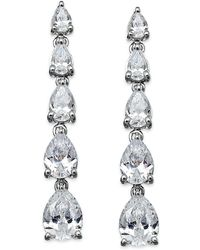 Arabella - Swarovski Zirconia Graduated Linear Earrings In Sterling Silver (8 Ct. T.w.) - Lyst