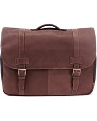 Kenneth Cole Reaction - Messenger Bag, Columbia Leather Flapover Portfolio - Lyst