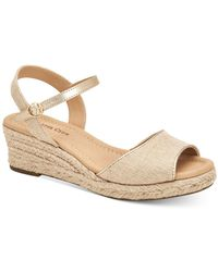 Charter Club Luchia Platform Wedge Sandals, Created For Macy's - Natural