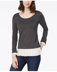 Charter Club - Layered-look Sweater, Created For Macy's - Lyst