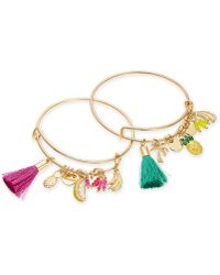 INC International Concepts - I.n.c. Gold-tone 2-pc. Set Bead, Tassel & Fruit Charm Bangle Bracelets, Created For Macy's - Lyst