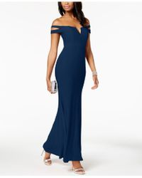 Xscape - Cold-shoulder Gown In Missy & Petite Sizes - Lyst