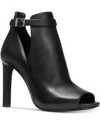 Michael Kors Lawson High-heel Buckled Open Toe Shooties - Black