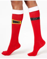Charter Club - Women's Buckle Up Knee High Socks - Lyst