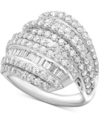 Wrapped in Love - Diamond Layered Cluster Ring (2 Ct. T.w.) In Sterling Silver - Lyst