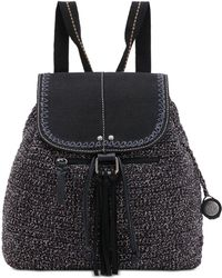 The Sak Avalon Convertible Crochet Backpack, Created For Macy's - Black