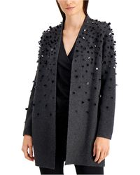 Alfani Paillette Open-front Cardigan, Created For Macy's - Black