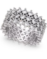 INC International Concepts Inc Silver-tone Pavé Ring, Created For Macy's - Metallic
