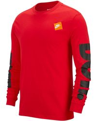 7e43a6686 Nike Sportswear Just Do It Long-sleeve T-shirt in White for Men - Lyst