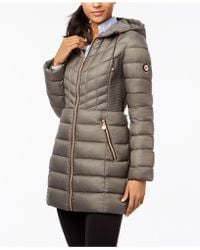 Bernardo - Quilted Hooded Packable Puffer Coat - Lyst
