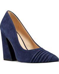 Nine West Harlyn Block-heel Pumps - Blue