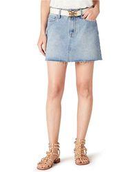 Sam Edelman The Jenny Cotton Denim Mini Skirt - Blue