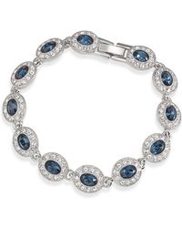 Carolee - Bracelet, Silver-tone Oval Stone Flex Bracelet - Lyst