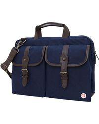 """Token Waxed Knickerbocker 13"""" Laptop Bag - Blue"""