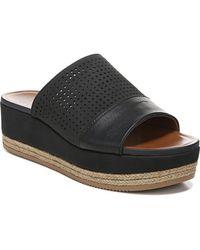 Naturalizer Nebraska Slide Wedge Sandals - Black