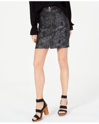 49247ef4f INC International Concepts - I.n.c. Zip-front Mini Skirt, Created For Macy's  - Lyst