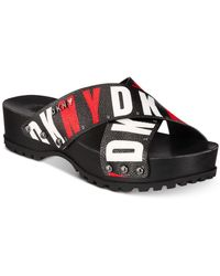 DKNY Wave Platform Sandals, Created For Macy's - Black