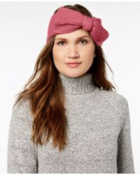 Kate Spade - Solid Bow Knit Headband - Lyst